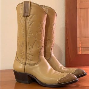 Nocona Boot leather cowboy boots.